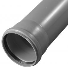 Труба PP-H с раструбом серая  Дн 40х1,8 б/нап L=0,75м в/к