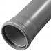 Труба PP-H с раструбом серая Дн 110х2,7 б/нап L=0,25м в/к