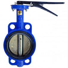 Затвор дисковый поворотный чугун Ду 40 Ру16 межфл с рукояткой диск чугун Китай